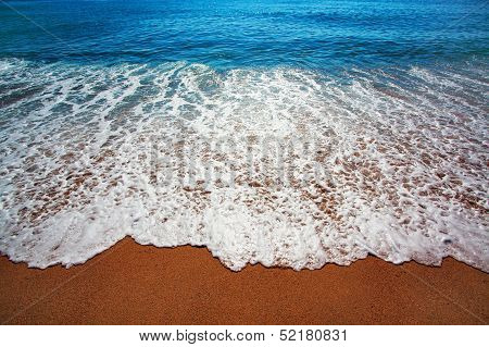 Blue Sea With Waves And Coast