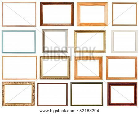 Set Of Horizontal Picture Frames