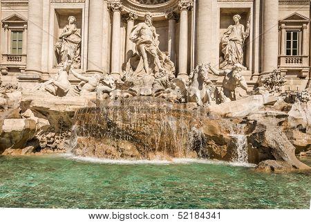 Trevi Fountain (fontana Di Trevi) In Rome, Italy