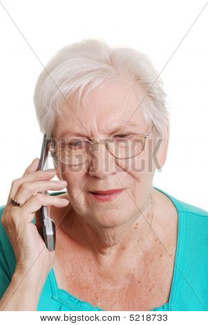 Senior Woman Talking On A Cell Phone