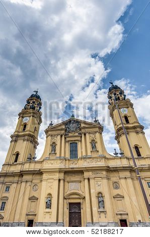 The Theatinerkirche St. Kajetan In Munich, Germany