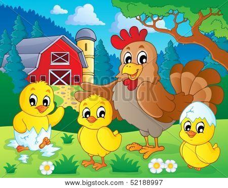 Farm animals theme image 7 - eps10 vector illustration.