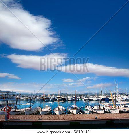 Ibiza San Antonio Abad Sant Antonio de Portmany marina at Balearic islands