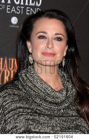 LOS ANGELES - OCT 10:  Kyle Richards at the 8th Annual LA Haunted Hayride Premiere Night at Griffith Park on October 10, 2013 in Los Angeles, CA
