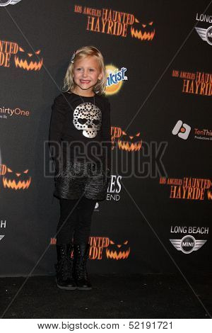 LOS ANGELES - OCT 10:  Alyvia Alyn Lind at the 8th Annual LA Haunted Hayride Premiere Night at Griffith Park on October 10, 2013 in Los Angeles, CA