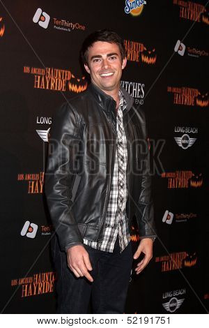 LOS ANGELES - OCT 10:  Jonathan Bennett at the 8th Annual LA Haunted Hayride Premiere Night at Griffith Park on October 10, 2013 in Los Angeles, CA