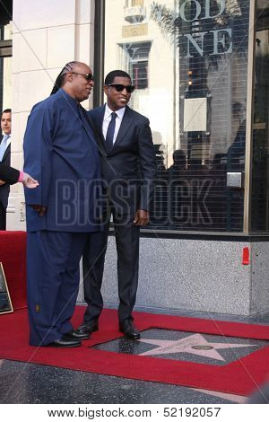 LOS ANGELES - OCT 10:  Stevie Wonder, Kenny