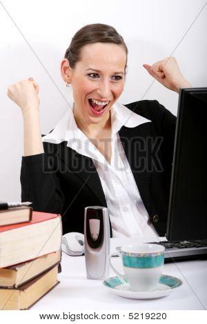 Happy Office Woman