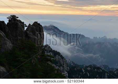 Bright Top Peak Sunrise, Mt. Huangshan