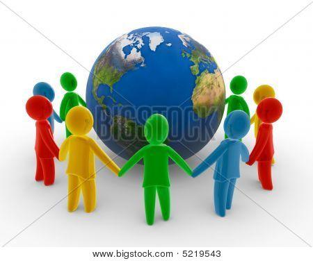 globale Menschenkette