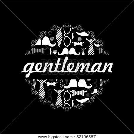 Beautiful card dandy style male fashion