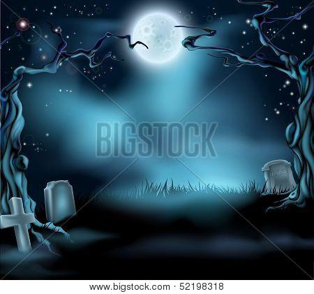 Spooky Halloween Background Scene