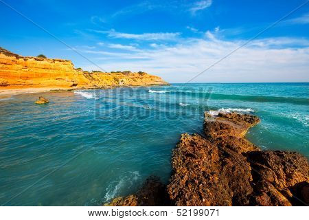 Ibiza island Platja Es bol Nou beach Ses Salines in Sant Josep at Balearic islands