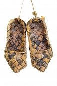 image of baste  - An old traditional Russian bast shoes - JPG