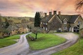 stock photo of hamlet  - The pretty village of Winderton - JPG