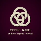 stock photo of celtic  - vector paper Celtic knot symbol design template - JPG