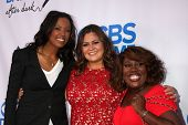 LOS ANGELES - OCT 8:  Aisha Tyler, Angelica McDaniel, Sheryl Underwood at the CBS Daytime After Dark