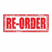 foto of reorder  - Grunge rubber stamp with text Re Order - JPG
