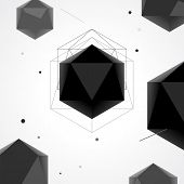 stock photo of polygons  - Polygon abstract geometrical background - JPG