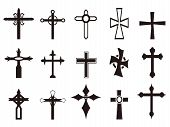 pic of maltese-cross  - isolated religious cross symbol set from white background - JPG