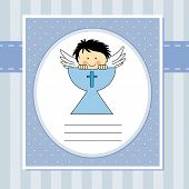 stock photo of communion  - First communion card - JPG