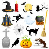 stock photo of witches cauldron  - easy to edit vector illustration of Halloween Object - JPG
