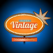 stock photo of motel  - Retro vintage motel banner sign - JPG