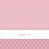 pic of girly  - Pink vector invitation card for baby shower - JPG