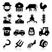 image of truck farm  - Farm Icons Two - JPG