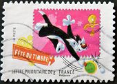 France - Circa 2009: A Stamp Printed In Usa Shows Sylvester And Tweety, Circa 2009