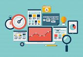 Website Seo en Analytics pictogrammen
