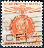 United States - Circa 1961: A Stamp Printed In Usa Shows Mahatma Gandhi - Champion Of Liberty