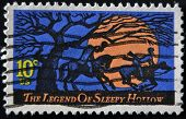 USA - CIRCA 1974: The Legend of Sleepy Hollow stamp is issued in time for Halloween.