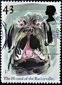 United Kingdom - Circa 1997: A Stamp Printed In Great Britain Shows The Hound Of The Baskervilles