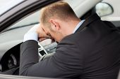stock photo of fatigue  - transportation and vehicle concept  - JPG