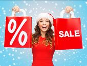 image of christmas claus  - shopping - JPG