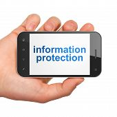 Privacy concept: Information Protection on smartphone