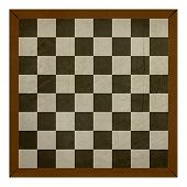 image of draught-board  - Grunge chess or draughts board isolated on white background - JPG