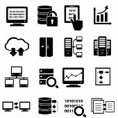 foto of social-security  - Big data and technology icon set in black - JPG