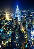 foto of petronas twin towers  - Cityscape in Kuala Lumpur - JPG