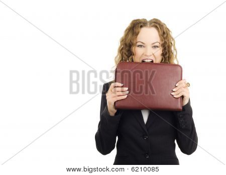 Emotion Of Beautiful Businesswoman