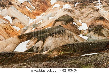 Beautiful multicolored mountains at Landmannalaugar, Iceland