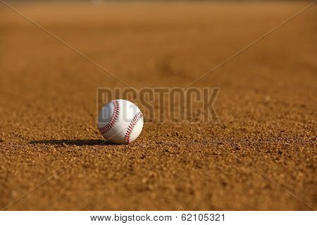 Baseball in the Infield with Dirt Patterns