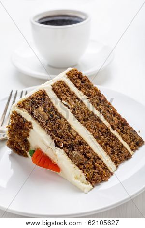 Delicious Dessert- a Piece of Carrot Cake