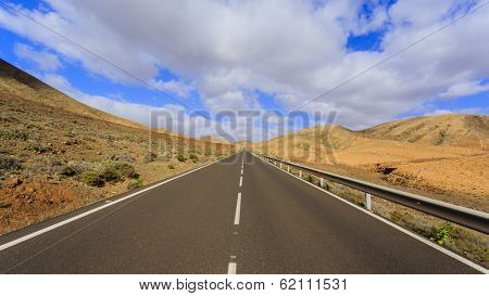 Travel, road - Fuerteventura, in the Canary Islands, Spain