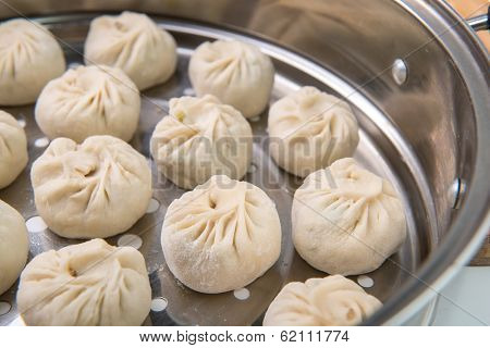 Dim sum dumplings traditional buns