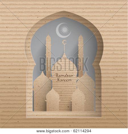 Vector 3D Cardboard Mosque.