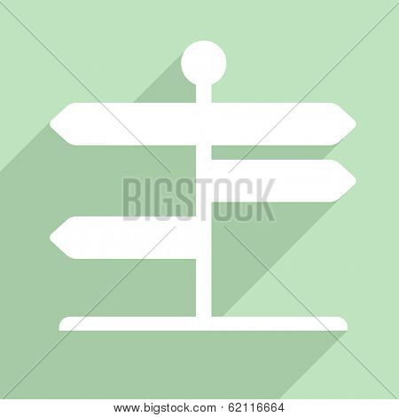 minimalistic illustration of a signpost, eps10 vector