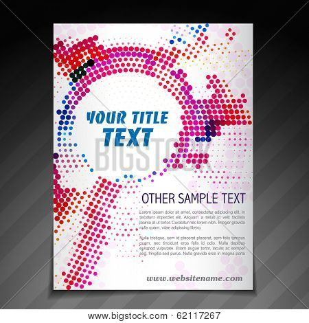 vector modern brochure flyer poster template