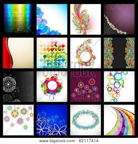 illustration of collection of vector background for designing purpose